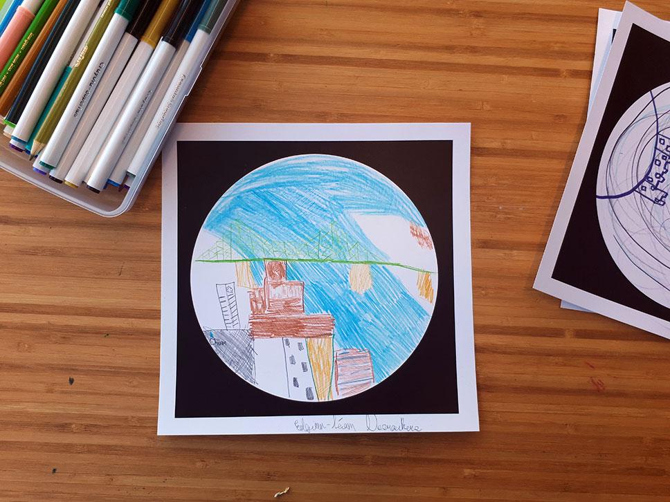 Atelier familial Observatoire Place Ville Marie avec Alexander Pilis