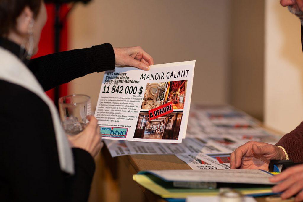 Alain Snyers - Encan de l'Agence Montr'Immo à L'Arsenal - Manoir Galant en vente