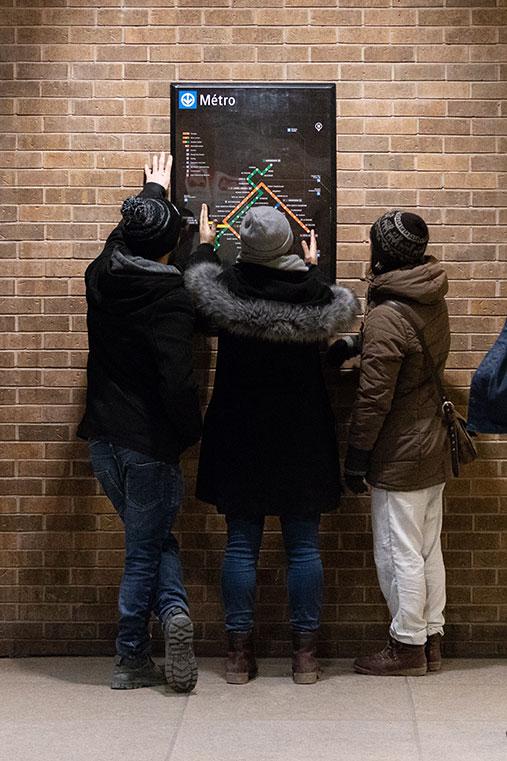 Nicolas Milhé - Plan du métro de Montréal