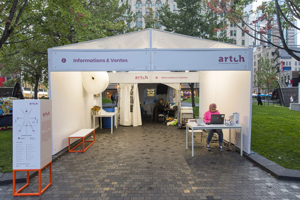 Artch 2019 - Kiosque d'informations et ventes
