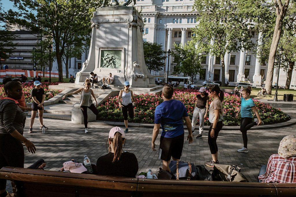 Vitrine sur l'art 2018 - Activité Au pas de course au Square Dorchester