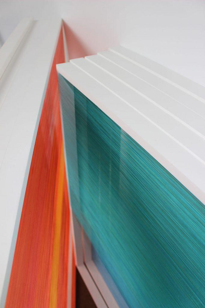 Florence Giroux Gravel - Toile de fils colorés