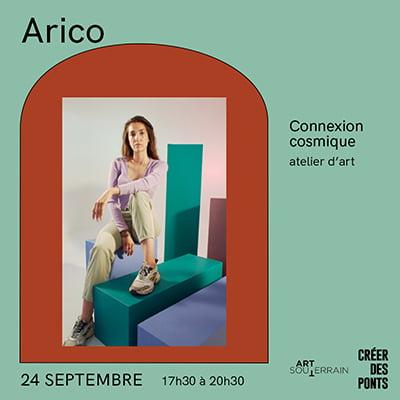 Connexion cosmique - Atelier d'art - Arico - 24 septembre