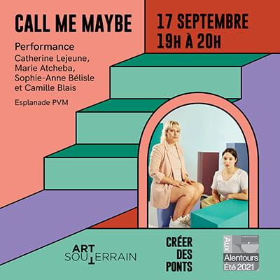 Call Me Maybe - Catherine Lejeune, Marie Atcheba, Sophie-Anne Bélisle et Camille Blais - 17 septembre
