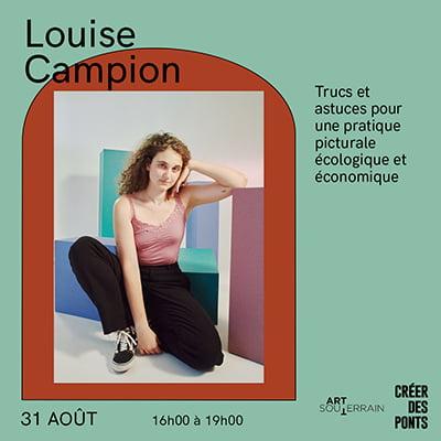 Trucs et astuces pour une pratique picturale écologique et économique avec Louise Campion - 31 août de 16h à 19h