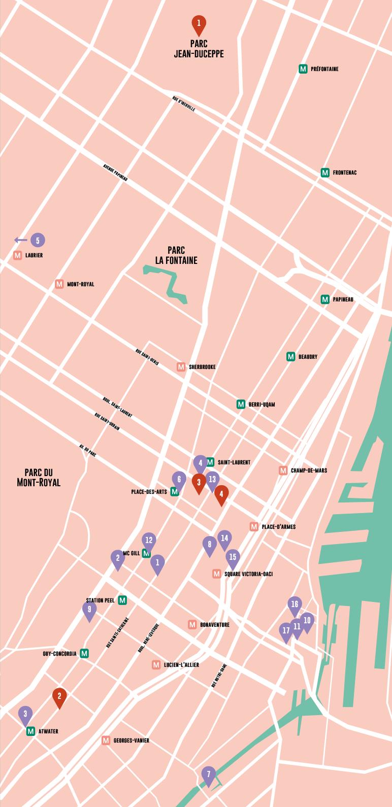 Carte Créer des Ponts - Résidences et cubes