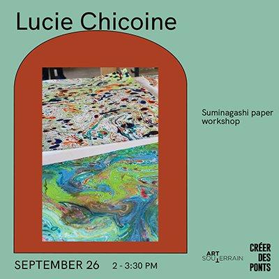 Lucie Chicoine - Suminagashi paper workshop
