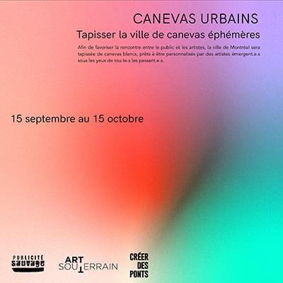 Canevas Urbains - 15 septembre au 15 octobre