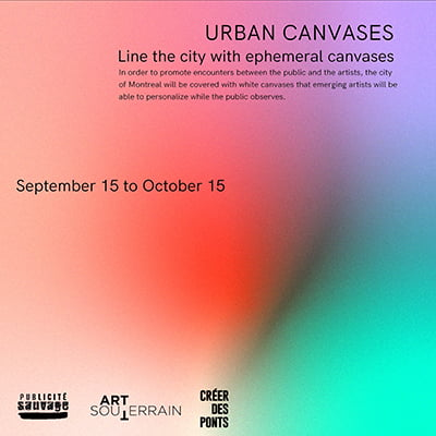 Urban Canvases - September 15 to October 15