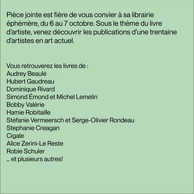 Librairie Éphémère par Art Souterrain et Pièce Jointe